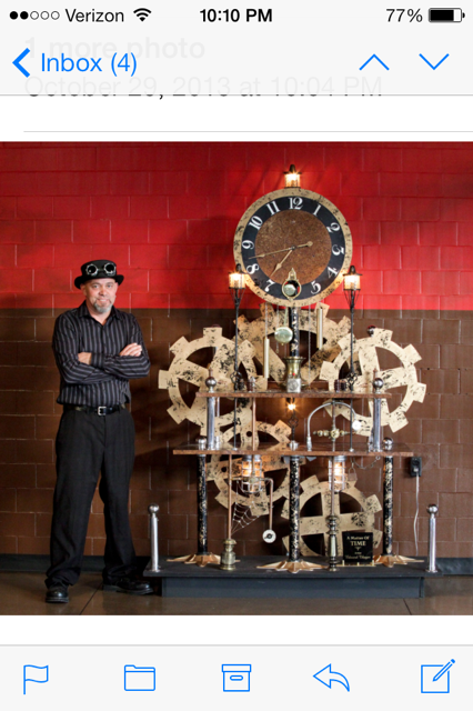 Steampunk Eddie and his Clock work at Grand River Marketplace