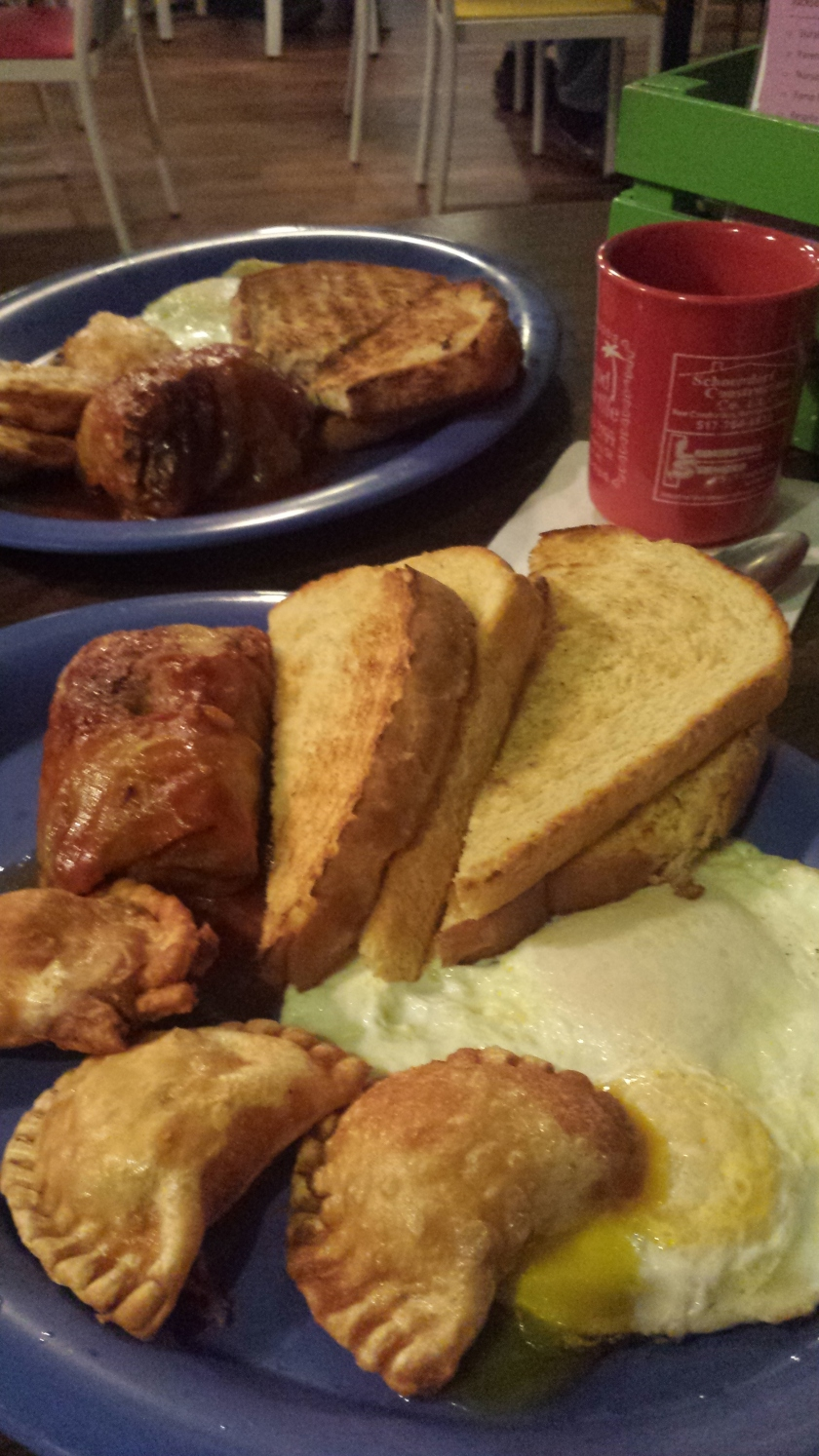Galumpkis & pierogies for breakfast!