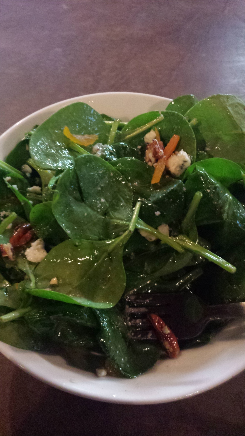Spinach salad at Grand River Marketplace