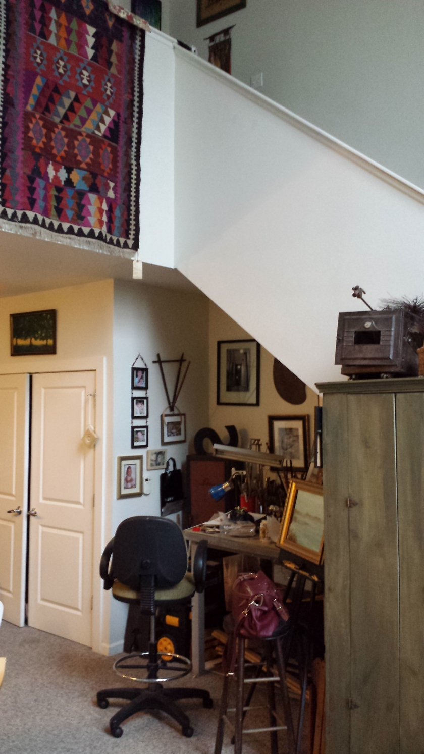 Jean Weir's creative space in her first floor loft apartment