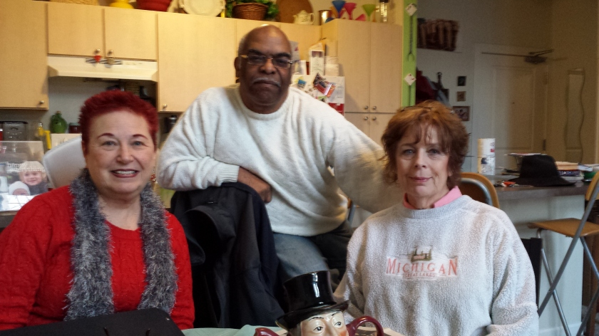 Armory Artswalk Apartment longtime residents Judy Gail Krasnow, Louis Cubille and Jean Weir in Jean's loft apartment