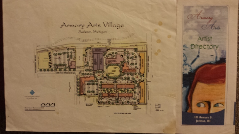 Armory Arts Village site plan and Artist Directory